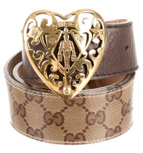 Gucci Brown, black Guccissima print Gucci gold-tone Hysteria belt