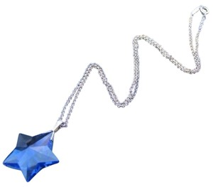 Tiffany & Co. Tiffany & Co LARGE BLUE CRYSTAL STAR NECKLACE