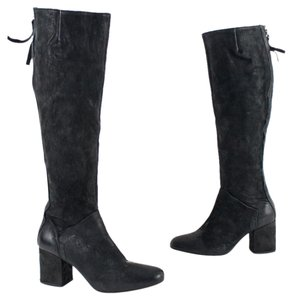 Free People Leather Black Boots