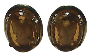Warner Gold Filled Clip On Cameo Earrings