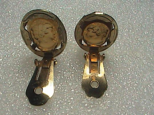 Warner Gold Filled Clip On Cameo Earrings Image 4