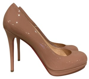Christian Louboutin Simple Stiletto Patent Classic nude Pumps