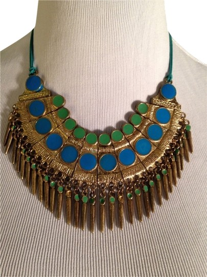Other Embellished by Leecia Enamel & Gold Statement Necklace