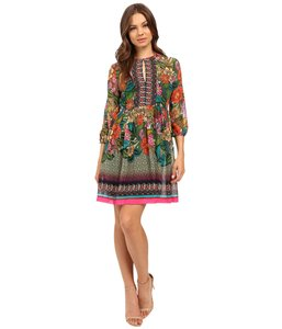 Donna Morgan short dress PINK LOTUS MULTI Hippie Chic Floral on Tradesy