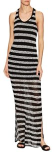 Black/white Maxi Dress by Bella Luxx Maxi Bold Stripe Knit