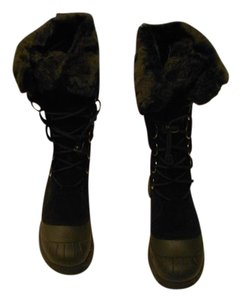 Baffin Suede Upper Waterproof Base Arch Support Water-resistant Made In Canada Black Boots