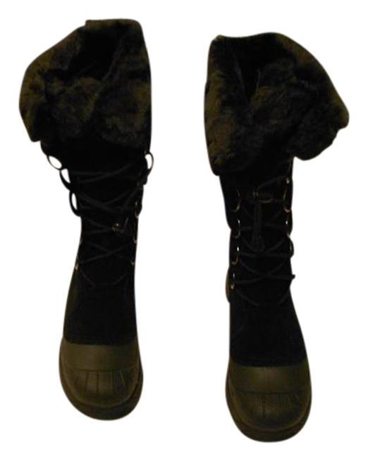 """Item - Black Judy """"Judy"""" Faux Fur Trim Suede Snow with Waterproof Base Boots/Booties Size EU 39 (Approx. US 9) Regular (M, B)"""