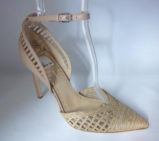 Dolce Vita Leather Taupe Jute Pumps