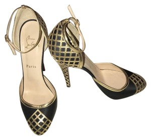 Christian Louboutin Black and Gold Formal