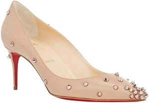 Christian Louboutin Nude Beige Rose Gold Pumps