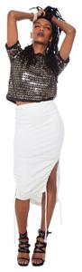 line by k, by karla deras Pencil Sexy Stretchy Bodycon Date Night Skirt white, cream