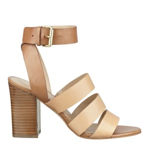 Marc Fisher Leather Sandal Tan Sandals