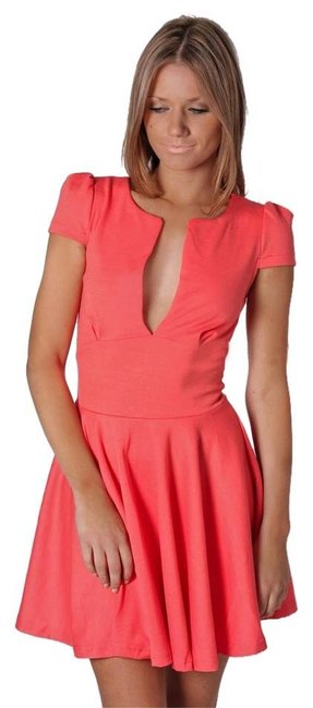 Esther.com.au short dress Coral/Peach Cocktail Fit And Flare on Tradesy