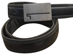 Tumi Tumi Carbon Fiber Leather Mens Belt New Without Tags Size 36/90 41.25