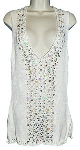 Arden B New Size Medium Sweater Knit Vest Sequins Beads Embellished Chunky Tunic