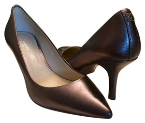 Coach Pewter Pumps