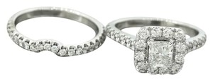 Other Ladies Modern 14K White Gold Diamond Stackable Engagement Ring EGL USA