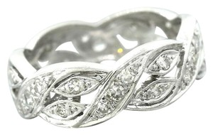 Ladies Modern Platinum Eternity Diamond Wedding Band Wrap Ring