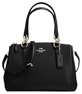 Coach Carryall 34797 Satchel in BLACK light gold one