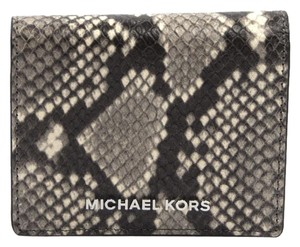 Michael Kors Michael Kors Jet Set Natural Python Leather Bifold Card Holder Wallet