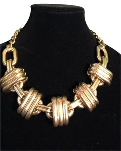 14th & Union Gold Large Link Statement Necklace