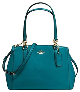 Coach Madison Christie Carryall Satchel in ATLANTIC BLUE/Gold tone