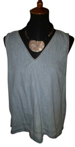 Rag & Bone Shirt Sleeveless Top Denim