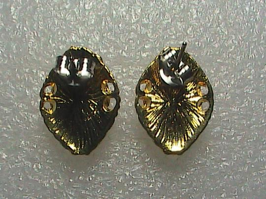 Unknown 14k Gold Overlay Cameo Earrings (Item# 2)