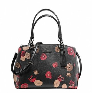 Coach Madison 36718 Satchel in ANTIQUE NICKEL/BLACK MULTI