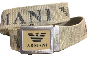 Emporio Armani Emporio Armani Mens Fabric Belt With Armani Buckle