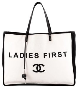 Chanel Canvas Tote in White