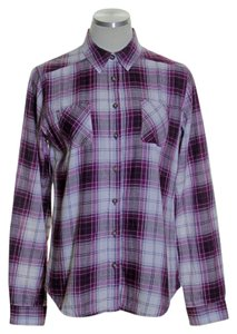 Merona Button Down Shirt Purple Multi