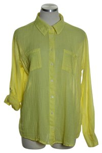 Merona Button Down Shirt Yellow