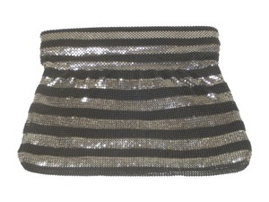 BCBGMAXAZRIA #metallic Bcbg Party Black & Silver Clutch