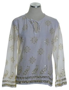 New York & Company Top White Gold
