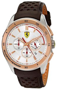 Ferrari Ferrari Men's Gran Premio 0830190 Brown Leather Quartz Watch