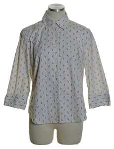 Dockers Button Down Shirt Ivory Multi