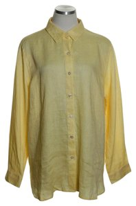 J. Jill Button Down Shirt Yellow