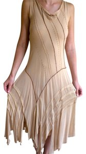 Roberto Cavalli Evening Summer Spring Nylon Gown Sleeveless Beaded Dress