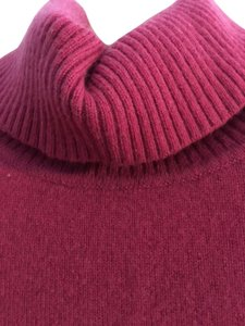 Ann Taylor Cashmere Turtleneck Petite Rose Sweater