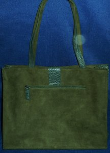 Murval Reptile Faux Suede New Work Tote in Green