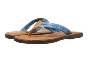 Sbicca Leather Braided Blue Sandals
