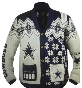 NFL Team Apparel Dallas Cowboys Cardigan Christmas Sweater