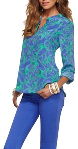 Lilly Pulitzer Top Blue and green