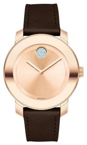 Movado Movado Bold Rose Gold-tone Dial Brown Leather AVAIL 12/17
