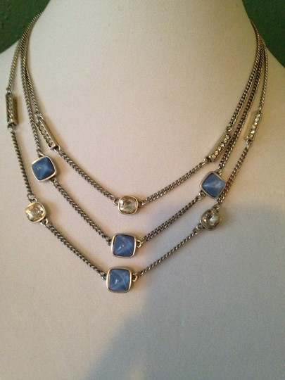Kenneth Cole Faceted Blue Bead & Crystal Multi-Row Necklace Image 2