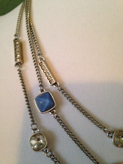 Kenneth Cole Faceted Blue Bead & Crystal Multi-Row Necklace Image 3