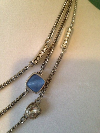 Kenneth Cole Faceted Blue Bead & Crystal Multi-Row Necklace Image 4