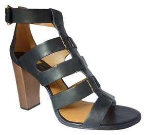 Dolce Vita Leather Ankle Strap Black Leather Sandals
