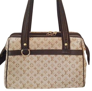 Louis Vuitton Josephine Handbag Speedy Lv Satchel in Beige